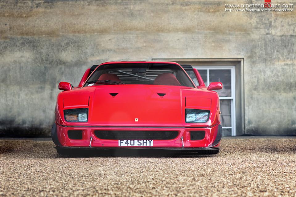 Ferrari F40 shy supercar