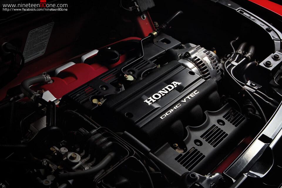 Engine photographed NSX