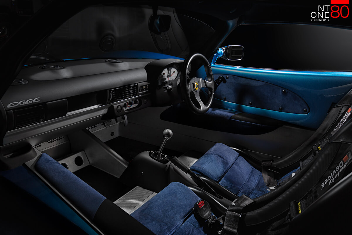 Car interior photography