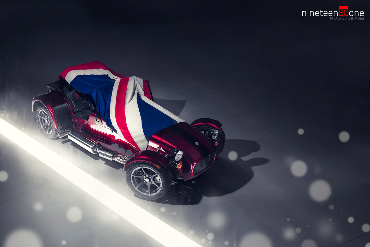 Professional car photographer caterham