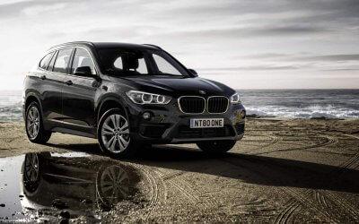 Sunny, warm Spain. BMW X1