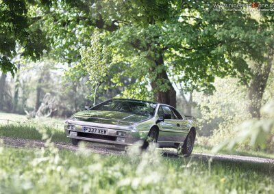 lotus esprit chrome car photographer