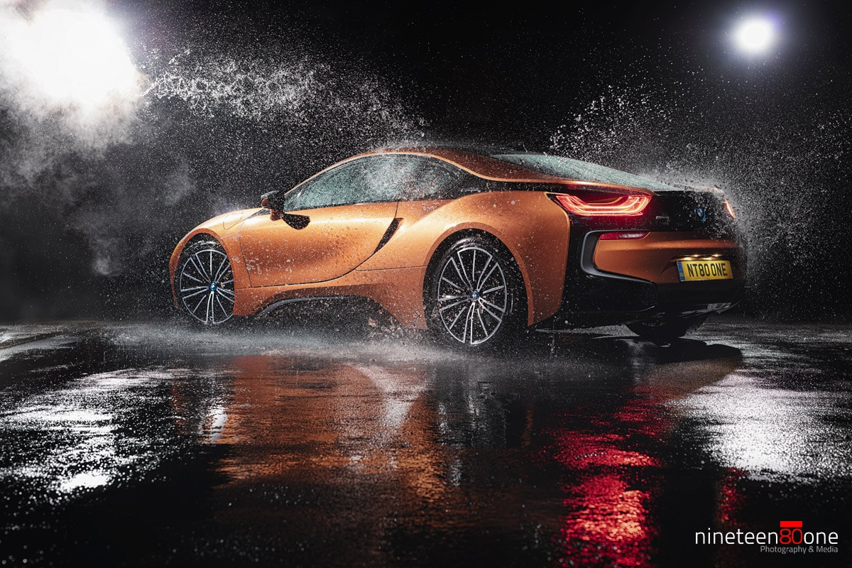 BMW i8 splash photography cars